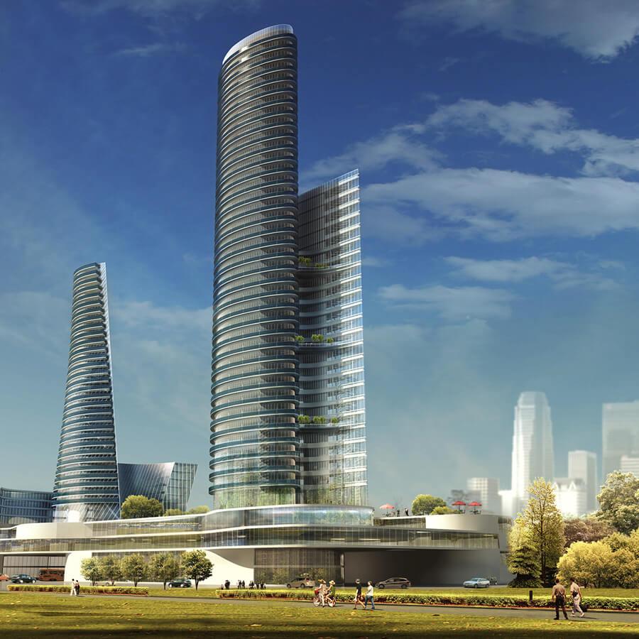 Nantong Towers – zespół budynków pasywnych w Chinach